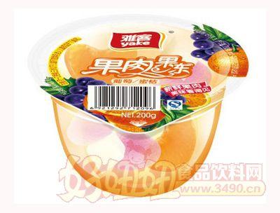 雅客果肉果冻葡萄蜜桔200g