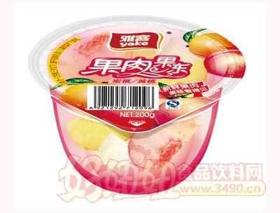 雅客果肉果冻蜜桃黄桃200g