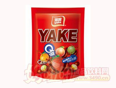 雅客Q逗橡皮糖夹心巧克力豆集锦装150g