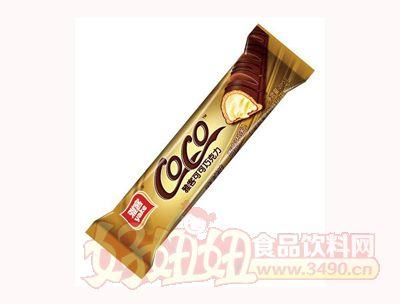 雅客可可巧克力椰子味�A心威化巧克力21.5g