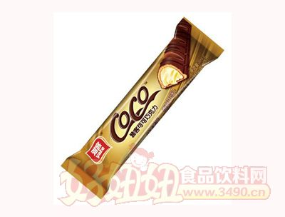 雅客可可巧克力椰子味夹心威化巧克力21.5g