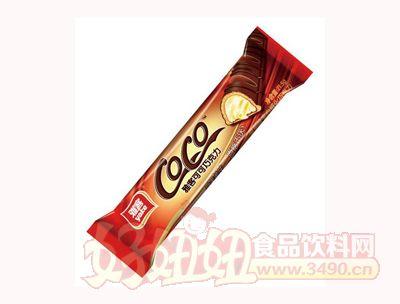 雅客可可巧克力草莓味夹心威化巧克力21.5g