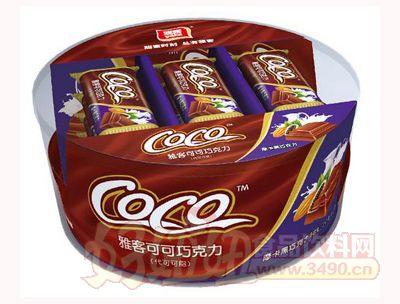 雅客COCO巧克摩卡黑巧克力115g