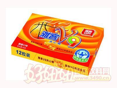 雅客V9夹心糖香橙味48g