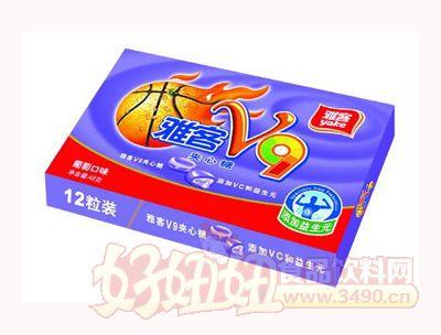 雅客V9夹心糖葡萄味48g