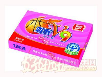 雅客V9夹心糖草莓味48g