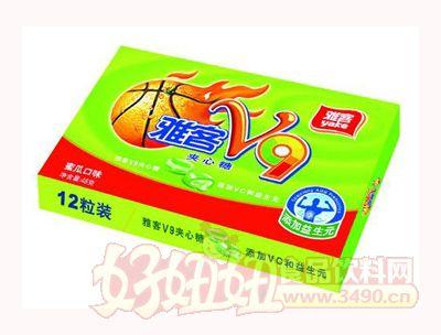雅客V9夹心糖蜜瓜味48g