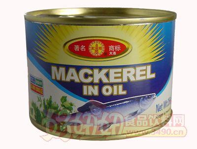 圣诺红塔牌油浸鲭鱼罐头256克