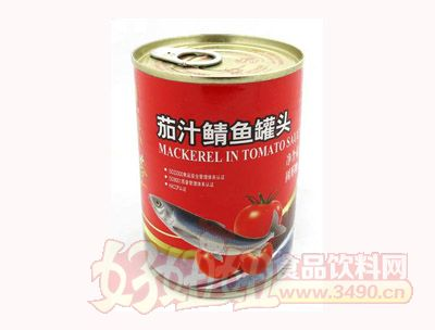 圣诺红塔牌茄汁鲭鱼罐头400克