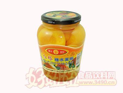 圣诺红塔糖水黄桃罐头770克