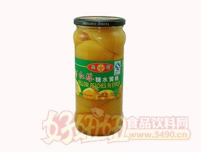 圣诺糖水黄桃罐头700克