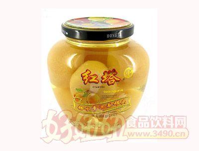 圣诺红塔牌糖水南果梨罐头560克