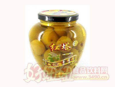 圣诺红塔牌糖水海棠罐头650克
