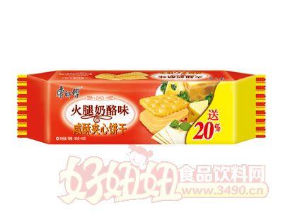 康师傅3+2咸酥夹心饼干火腿奶酪味