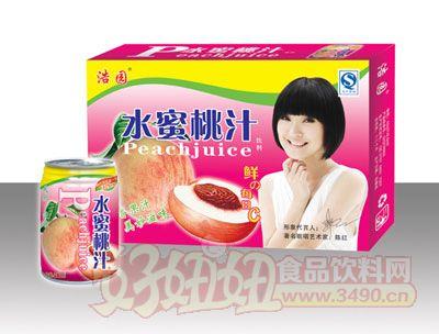 浩园水蜜桃汁易拉罐箱装