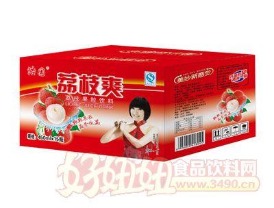 浩园荔枝爽果粒饮料450ml×15瓶