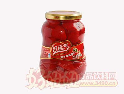 好运气糖水草莓罐头900克