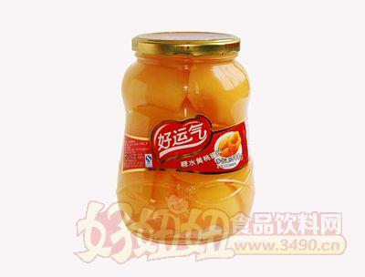 好运气糖水黄桃罐头900克