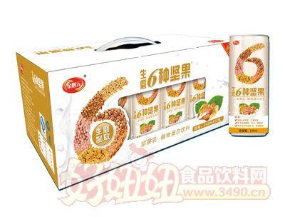 金醒元生磨6种坚果植物蛋白饮料开窗礼盒