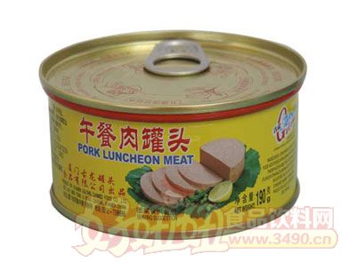 古龙午餐肉罐头190g