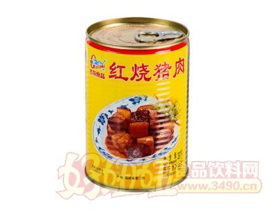 古龙红烧猪肉罐头397克