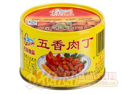 古龙五香肉丁罐头142克