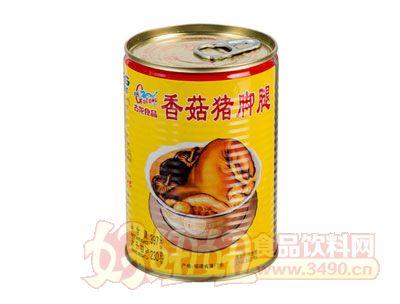 古龙香菇猪脚腿罐头397克