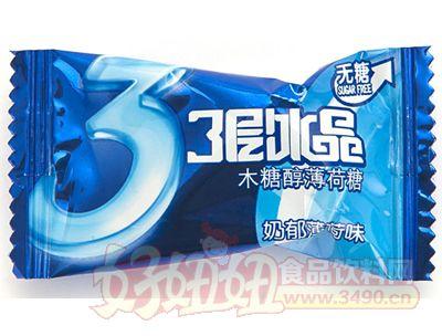 金丝猴三层冰晶木糖醇薄荷糖(奶郁薄荷味)