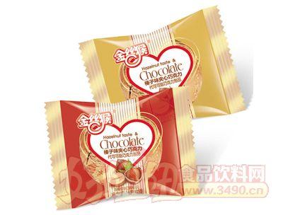 金丝猴榛子味夹心巧克力红金色