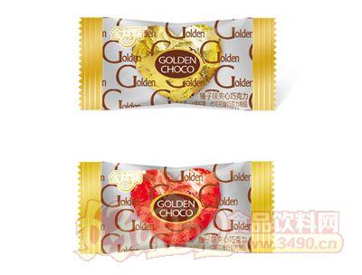 金丝猴清真榛子味夹心巧克力金咖色喜糖