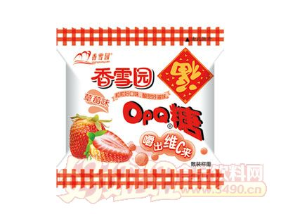 香雪园OPQ糖草莓味散装