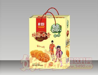 金福郎缤纷曲奇酥性饼干礼盒1.08kg