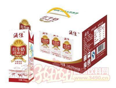 涌佳利乐砖红牛奶2.4L