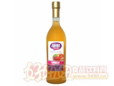 萍聚苹果醋饮料750ml磨砂瓶