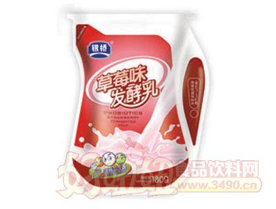 银桥益生菌草莓味发酵乳