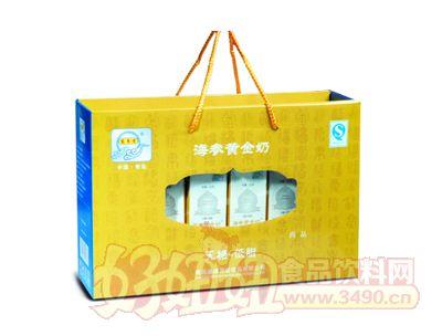 宏易堂�o糖低脂海�ⅫS金奶250ml8盒金色�b