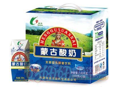 河套蒙古酸奶200mlx12盒