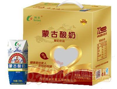 河套蒙古酸奶200mlx12盒黄