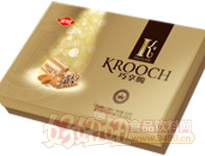318g巧享脆奶油果仁巧克力金色