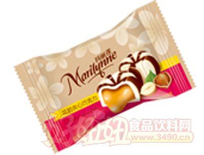 枕式玛丽莲花韵夹心巧克力红色米黄色橙色