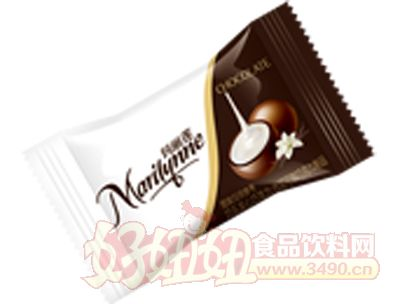 枕式�����巧��A心巧克力白色米�S