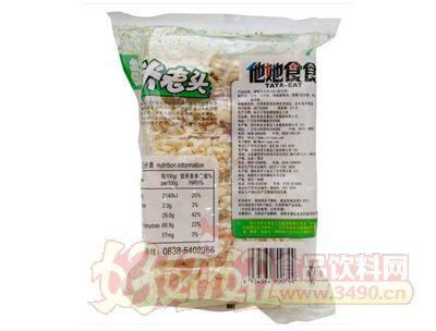 米老�^青稞米棒150g米通膨化食品休�e零食花生味背面