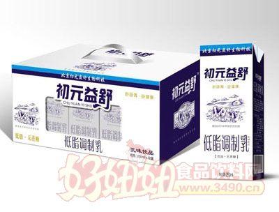 初元益低脂调制乳乳味饮品250ml×12盒