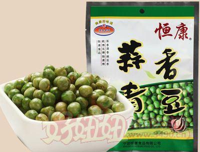 恒康食品蒜香青豆豌豆268g��立小包�b