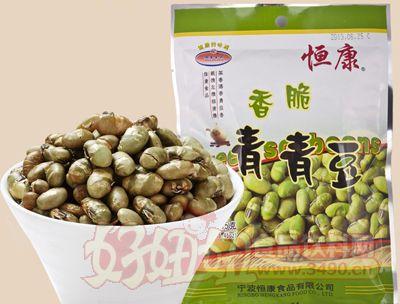 恒康食品香脆青青豆155g袋装