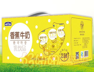 明太郎香蕉牛奶250mlX12盒