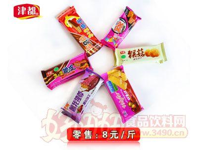 津都3+2脆皮巧克力威化饼干系列