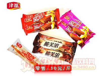 津都脆芙浓巧克力威化饼干10元1斤