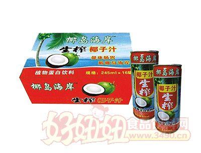 椰岛海岸生榨椰汁植物蛋白饮料245ml×16瓶装