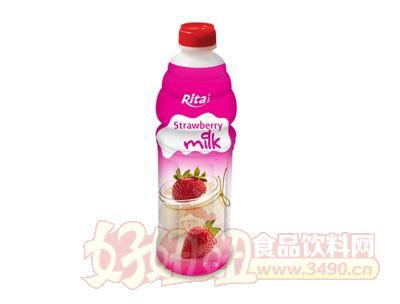 1.25L越南天然草莓味果奶饮品